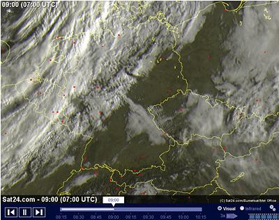 Wellenartige Wolken - Schwerewellen