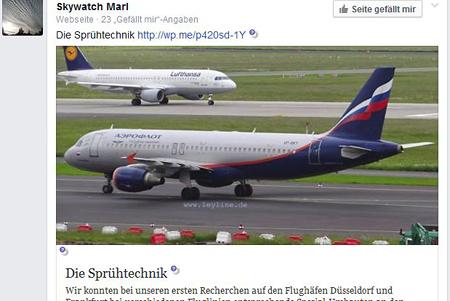 SkywatchMARL fällt auf die Märchen von Bernd Hauck herein