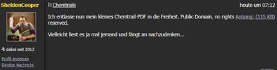 Gegenfragen - Aspekte zu Chemtrail-Aussagen