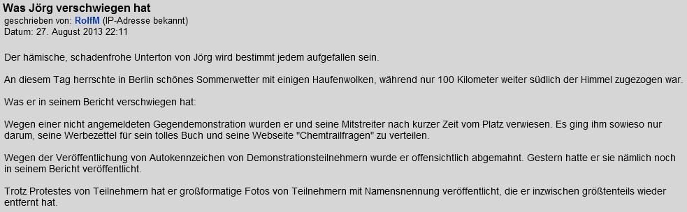 Rolf Meyer lügt