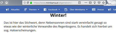 Halos im Winter?