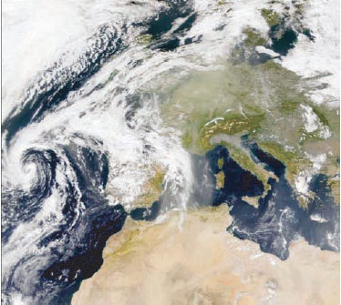 Sahara-Staub über Europa