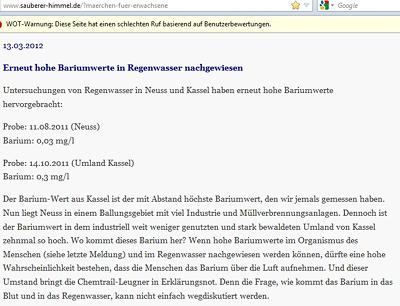 Chemtrail-Leugner in Erklärungsnot