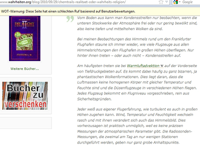 Wolfgang Thüne zu Chemtrails