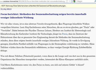 Kachelmann soll Focus lesen