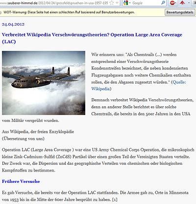Verbreitet Wikipedia Verschwörungstheorien?