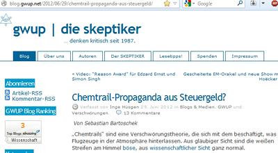 GWUP Die Skeptiker über die Sache mit dem Chemtrails-Bauzaun