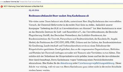 Storr mahnt Kachelmann ab
