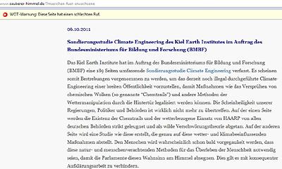 Sondierungsstudie Climate Engineering des Kiel Earth Institutes im Auftrag des Bundesministeriums für Bildung und Forschung (BMBF)