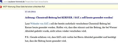 Altnickel bei Kerner auf SAT.1