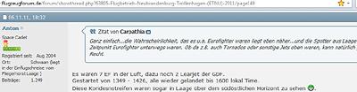Spotter aus Rostock-Laage über Streifen über der Uckermark