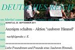 (Mail-) Aktion von Sauberer-Himmel.de