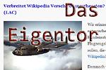 Eigentor mit Wikipedia
