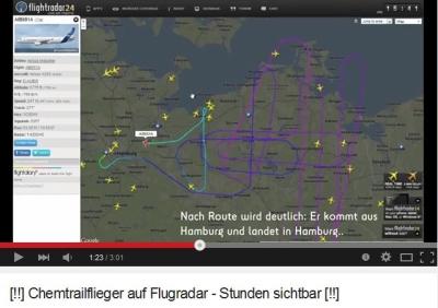 """""""[!!] Chemtrailflieger auf Flugradar - Stunden sichtbar [!!] """""""