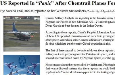 "US Reported In ""Panic"" After Chemtrail Planes Forced Down In India, Nigeria"