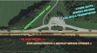 Autobahn-Behelfsflugplatz