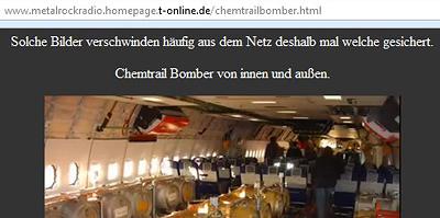 Keine Angst, die angeblichen Chemtrailbilder bleiben hier erhalten.