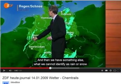 ZDF heute-journal 14.01.2009 Wetter - Chemtrails?