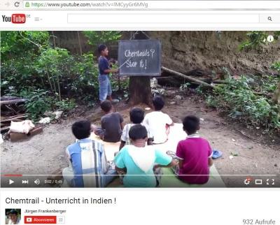 Jürgen Frankenberger: Chemtrail - Unterricht in Indien !