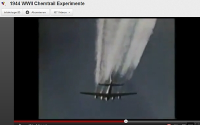 Chemtrail-Experimente im WWII?