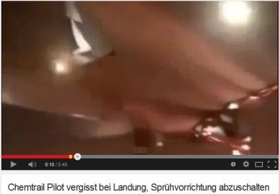 """""""Chemtrail Pilot vergisst bei Landung, Sprühvorrichtung abzuschalten"""""""