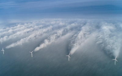 Horns rev offshore wind farm: Wirbelschleppen