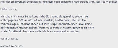 E-Mail von Herrn Wendisch