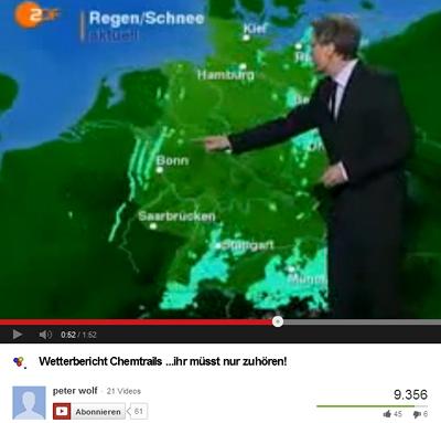 ZDF-Wetterbericht mit Düppeln