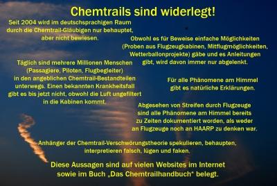 Chemtrails sind widerlegt.