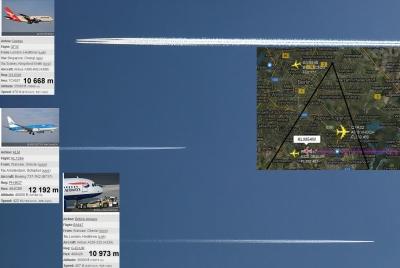 Flughöhen und Streifen