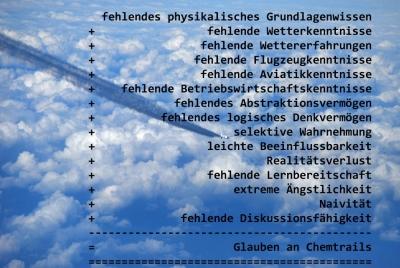 Glauben an Chemtrails