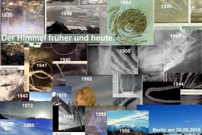 Der Himmel früher und heute.