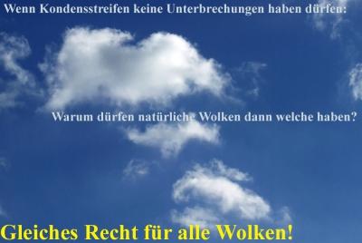 Gleiches Recht für alle Wolken!